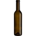 375 ml Antique Green Bordeaux Wine Bottles, Mini Punt, Cork 24/cs