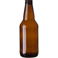 12 oz. (355 ml) Amber Glass Heritage Beer Bottles, Crown Pry-Off, 26-650