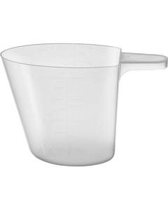 8 oz. (250 cc) Natural Tapered Plastic Measuring Cup