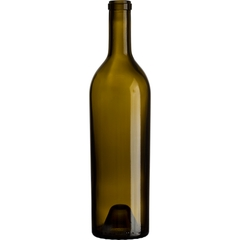 750 ml Antique Green Bordeaux Wine Bottles, Premier, Punted, Cork