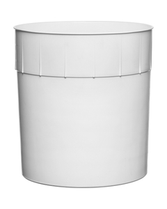 3 Gallon (384 fl. oz.) White HDPE Plastic Round Ice Cream Tub