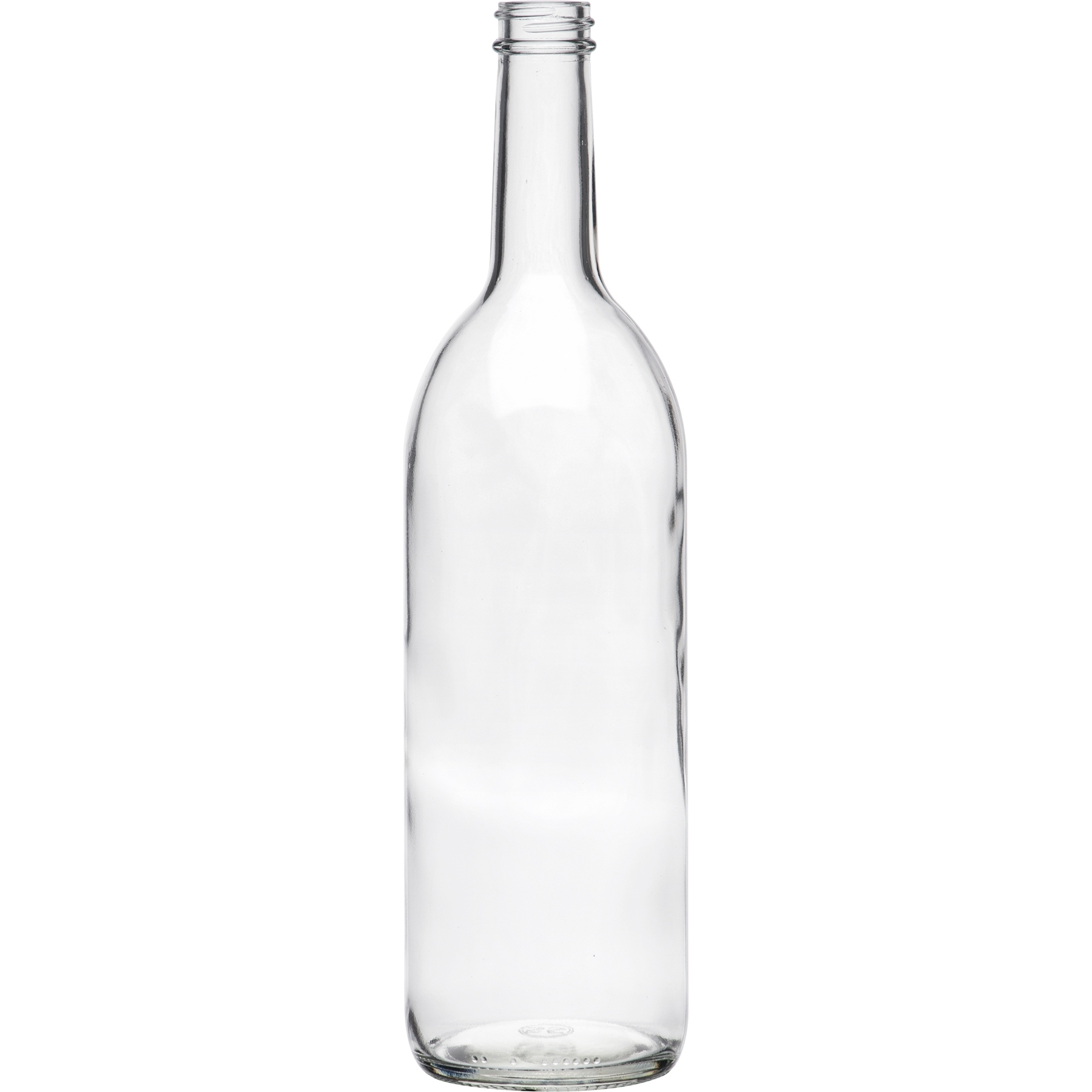 750 ml Clear Bordeaux Wine Bottle, 28mm 28-400
