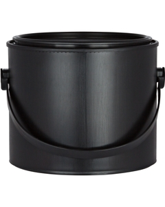 2.5 Liter Black Plastic Paint Can with Ears, Bail and Lid