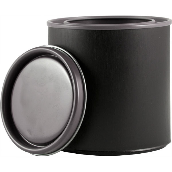 1 2 pint black hybrid paint can w lid the cary company
