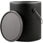 1 Gallon Black Hybrid Paint Can with Ears, Bail and Lid