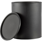 1 Gallon All-Plastic Black Can with Lids
