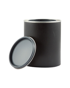 1 Pint Black Hybrid Paint Can with Lid (Re-Shipper Pack)