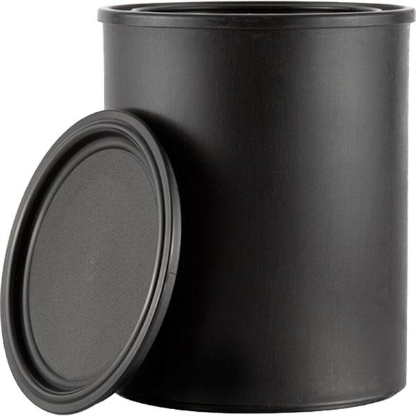 1 quart black plastic paint can w lid the cary company