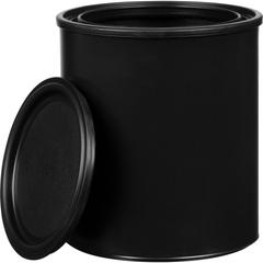 1 Quart Black Plastic Paint Can with Lid