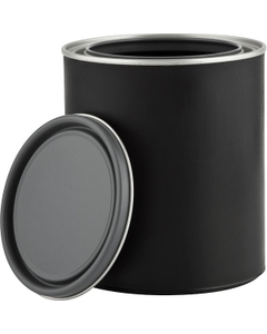 1 Quart Black Hybrid Paint Can with Lid