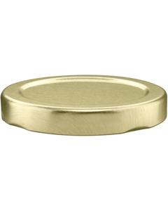 58mm 58-2020 Gold Button Metal Lug Cap w/ Plastisol Liner