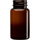 2.5 oz. (75 cc) Amber PET Plastic Packer Bottle, 33mm 33-400
