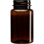 3.5 oz. (100 cc) Amber PET Plastic Packer Bottle, 38mm 38-400