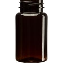 4 oz. (120 cc) Amber PET Plastic Packer Bottle, 38mm 38-400