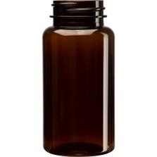 5 oz. (150 cc) Amber PET Plastic Packer Bottle, 38mm 38-400