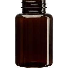 6 oz. (175 cc) Amber PET Plastic Packer Bottle, 38mm 38-400