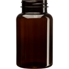 7.5 oz. (225 cc) Amber PET Plastic Packer Bottle, 45mm 45-400