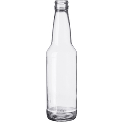 12 oz. Clear Long Neck Beer Bottle, Twist-Off, 24/cs