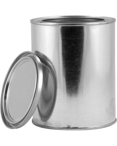 1 Liter Metal Paint Can with Lid, Unlined