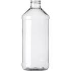 16 oz. Clear PET Plastic Modern Round Bottle, 28mm 28-410