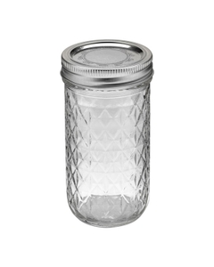 Ball 12 oz. Quilted Crystal Jelly Jars w/Lid (Set of 12)