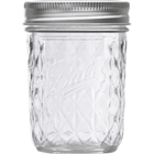 Ball 8 oz. (Half Pint) Quilted Crystal Jelly Jars w/Lid (Set of 12)