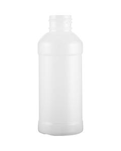 4 oz. Natural Modern Round HDPE Bottle, 24mm 24-410