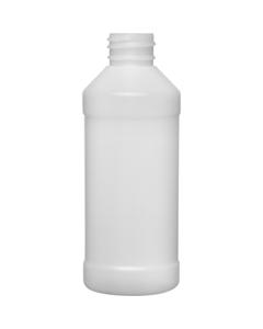 8 oz. Natural HDPE Plastic Modern Round Bottle, 28mm 28-410, 22 Grams