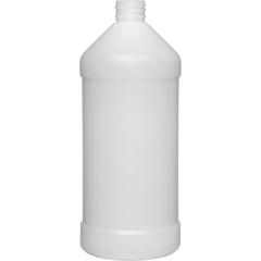 32 oz. (946 ml) Natural HDPE Plastic Modern Round Bottle, 28mm 28-410