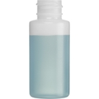 1 oz. Natural HDPE Plastic Cylinder Bottle, 20mm 20-410