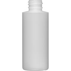 2 oz. Natural HDPE Plastic Cylinder Bottle, 20mm 20-410