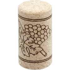 Neutrocork® Micro-Agglomerated Wine Corks, Print, 44 x 23 mm, 100/pk