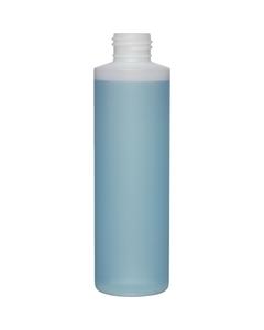 6 oz. Natural HDPE Plastic Cylinder Bottle, 24mm 24-410, 18 Grams