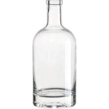 750 ml Clear Glass Nordic Liquor Bottle, Bar Top, 12/cs