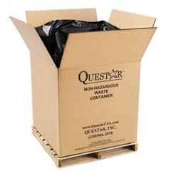 "36"" x 36"" x 36"" Bulk-Size Corrugated Cubic Yard Box, 2,000 lb. Capacity (Non UN-Rated)"