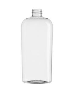 15 oz. (450 ml) Clear PET Plastic Oval Bottle, 28mm 28-410