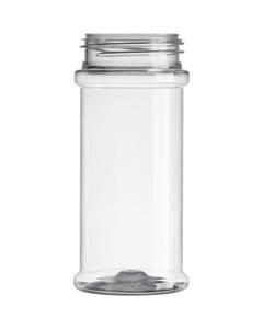 8 oz. (8.4 oz.) Clear PET Plastic Spice Jar, 53mm 53-485