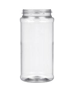 16 oz. Clear PET Plastic Spice Jar, 63mm 63-485