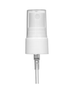 "White Mist Sprayer Pump with 3-3/4"" Dip Tube, 20mm 20-410"