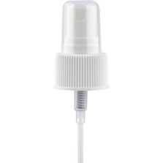 "White Mist Sprayer Pump with 4-3/4"" Dip Tube, 24mm 24-410"