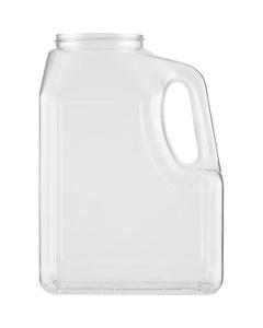 64 oz. Clear PETG Plastic Premier Oblong Jar with Handle, 70mm 70-400