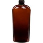 15 oz. (450 ml) Amber PET Plastic Oval Bottle, 28mm 28-410