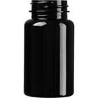 4 oz. (120 cc) Black PET Plastic Packer Bottle, 38mm 38-400