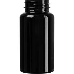 5 oz. (150 cc) Black PET Plastic Packer Bottle, 38mm 38-400