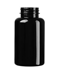 6.75 oz. (200 cc) Black PET Plastic Packer Bottle, 38mm 38-400