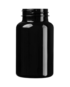 7.5 oz. (225 cc) Black PET Plastic Packer Bottle, 45mm 45-400