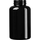 13.5 oz. (400 cc) Black PET Plastic Packer Bottle, 45mm 45-400