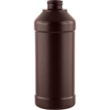 16 oz. Brown Peroxide Modern Round Barrier Resin Bottle, 28mm 28-400