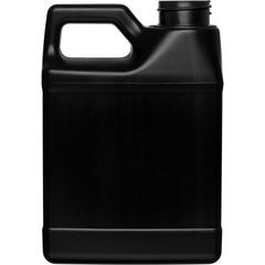 16 oz. Black HDPE Plastic F-Style Bottle, 33mm 33-400