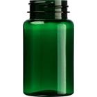 3.5 oz. (100 cc) Dark Green PET Plastic Packer Bottle, 38mm 38-400